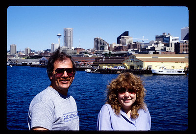 Terry & Robin with Seattle in the background.