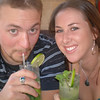 Alec and Galen, mojito #2 or 3 at Aji