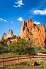 The Garden of the Gods, a National Natural Landmark near Colorado Springs, Colorado, USA.