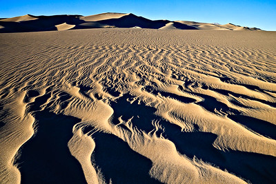 Sand Sheet Ripples - Evening Great Sand Dunes National Park