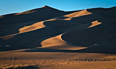Dunes - Sunset Light Great Sand Dunes National Park