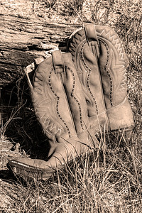 usa, colorado, guffey, clothes, shoes, boots, sepia, western