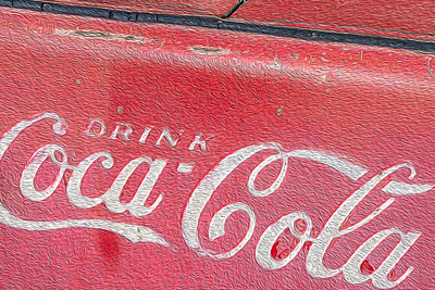 usa, colorado, guffey, art, advertising, drink coca cola, red, paint