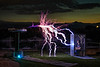 Tesla coil in our neighbor's backyard