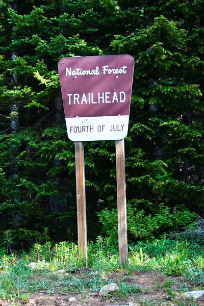 Fourth of July Trailhead, how appropriate!