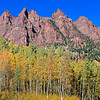 Fall colors on Sievers Mountain, from Maroon Lake<br /> 4 vertical image stitch