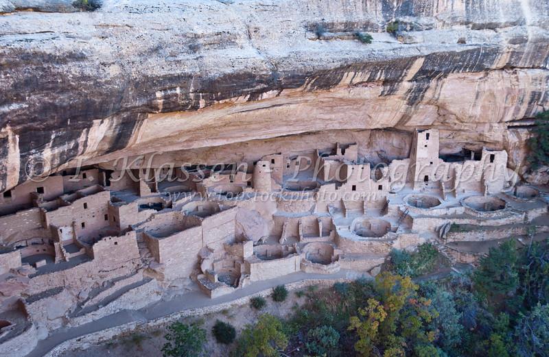 Cliff Palace at Mesa Verde National Park, Colorado, USA, America.