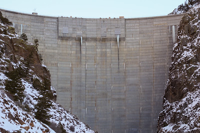 Morrow Point Dam and the Gunnison River on Colorado's Western Slope on December 25, 2020. ©Mitch Tobin Usage rights are granted for editorial and nonprofit purposes only. No commercial or re-sale rights are granted without permission of the photographer.