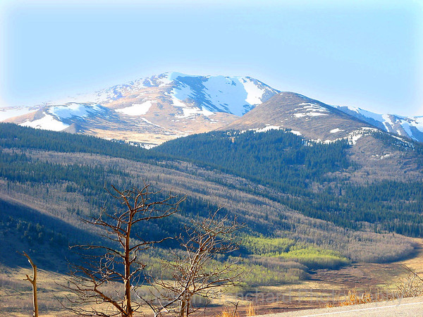 Mount Silverheels, Colorado, from Hwy 285