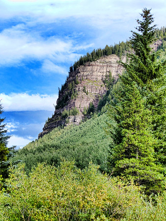 East Vail bluff