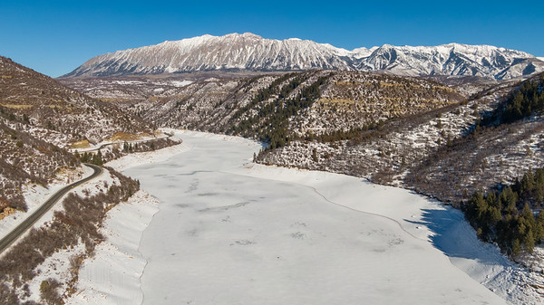 Paonia Reservoir, on Colorado's Western Slope, on December 24, 2020. Photo by Mitch Tobin, The Water Desk.
