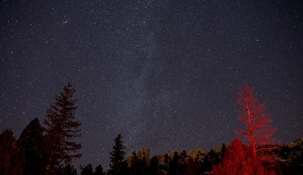The Milky Way above Lumpy Ridge near Estes Park, Colorado.