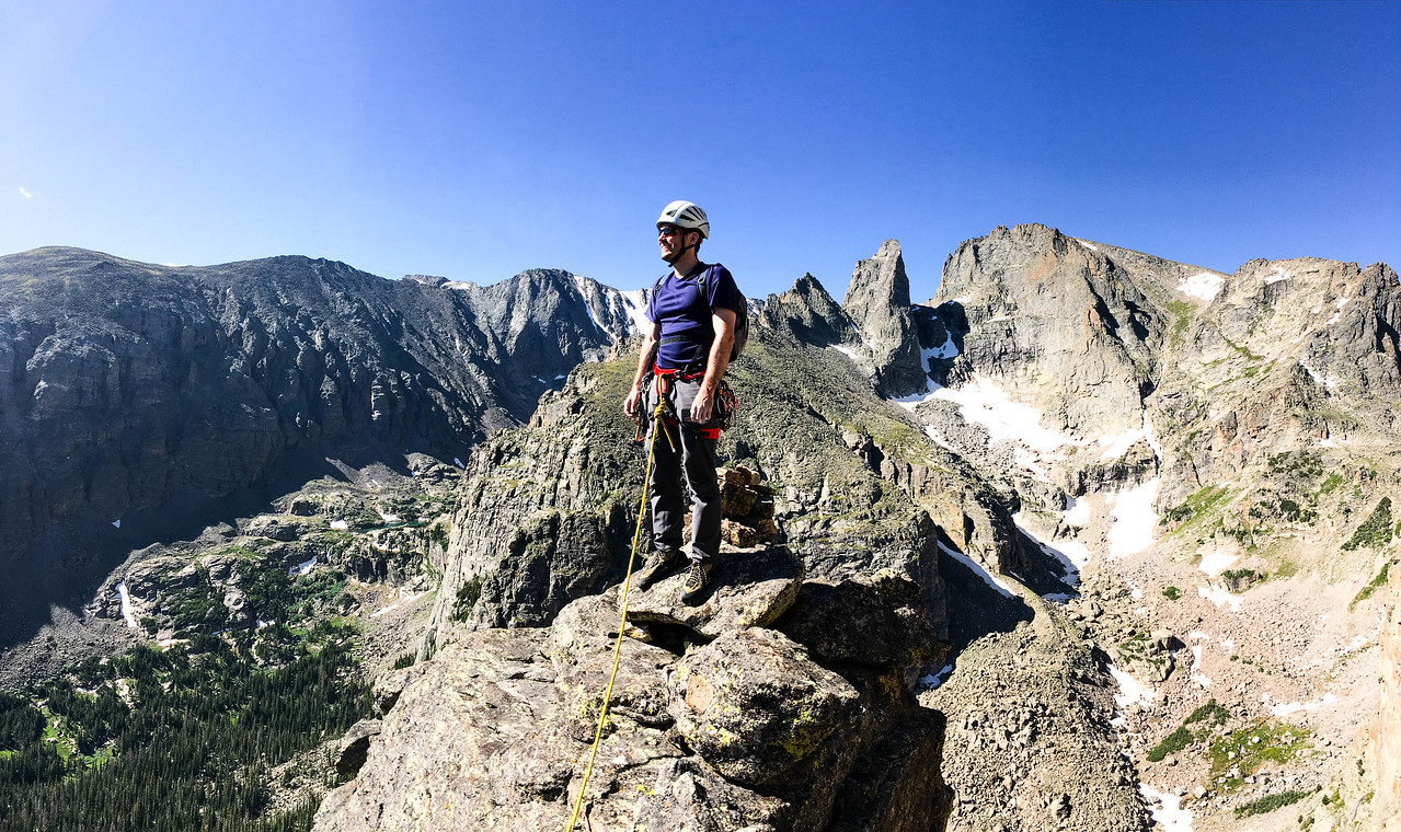 Climber on the Summit of Zowie