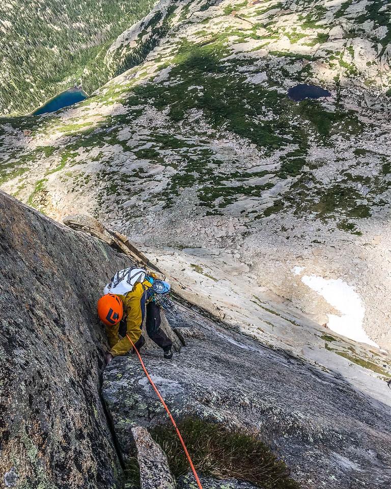 Climber on Syke's Sickle, Spearhead