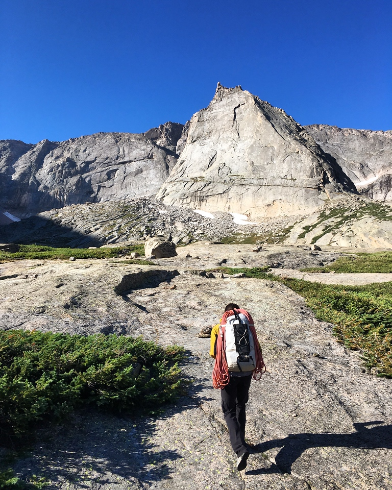 Approaching the Spearhead in Glacier Gorge