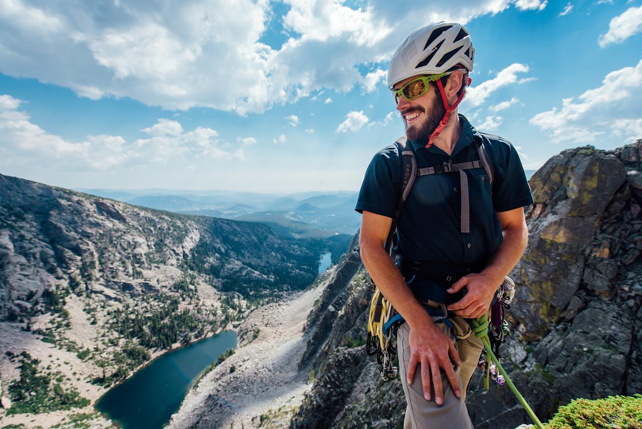 Zach on Hallet Peak