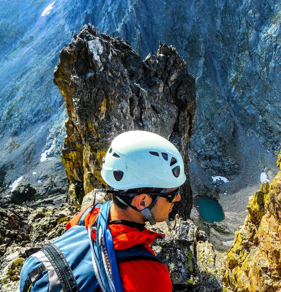 Climber on Notchtop