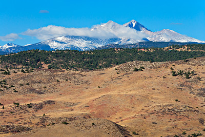 Longs Peak flanked by Mt. Meeker and Mt. Lady Washington