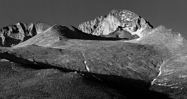 Longs Peak from Deer Creek Junction 5 vertical image stitch - 400mm lens