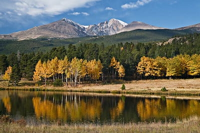 Longs Peak from Hwy 7 @ High Peak Camp, Fall 2008