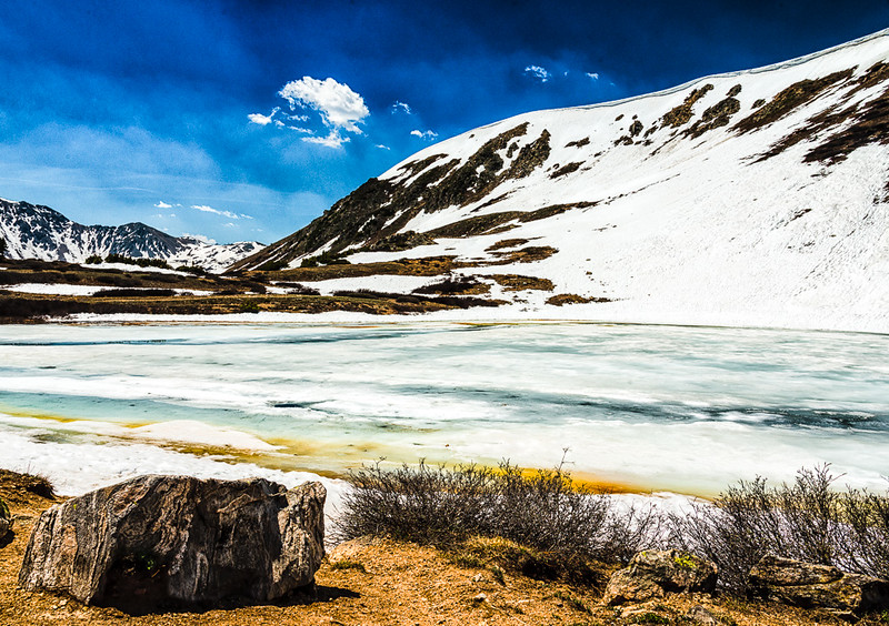 Frozen Lake near Loveland Pass