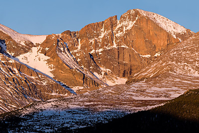 Longs Peak - morning light from Twin Sisters trail - May, 2007 10 images stitched in 2 rows - 400mm lens
