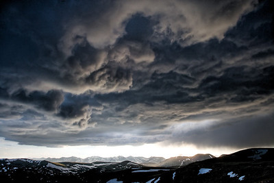 Late afternoon summer storm - Trail Ridge Road