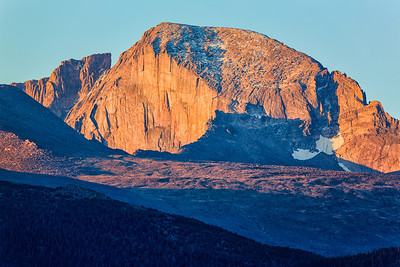 Longs Peak sunrise from Moraine Park