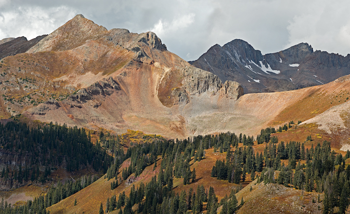 La Plata Mtns, Tertiary laccolith intrusives,  San Juan Mountains