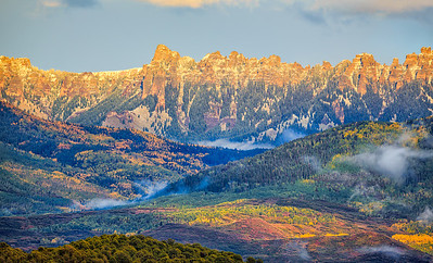 Cimarron Range sunset, from Ridgway