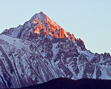 Mt Sneffels - sunset, Dallas Divide, San Juan Mtns.