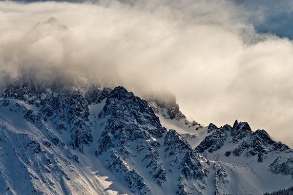 Mt Sneffels, 14,150 ft Clearing Storm - Dec 2006 San Juan Mountains, CO