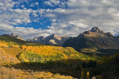 Mt. Sneffels from CR7, Fall colors, San Juan Mtns.