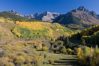 Mt. Sneffels from CR7, Fall colors, San Juan Mtns