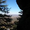 A peek at Boulder from Mt. Sanitas