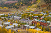 Aerial views of Telluride, Colorado, USA from the gondola lift.