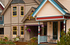 Architecture of homes and condos in Telluride, Colorado, USA, America.