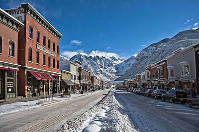 Downtown Telluride after 3 feet of new snow Christmas, 2006
