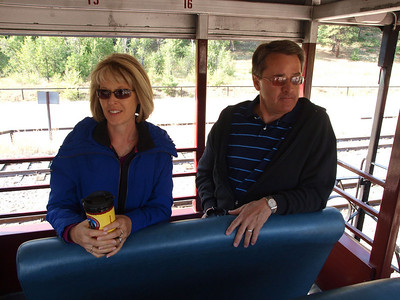 Janet & Ron onboard The Rio Grande car.