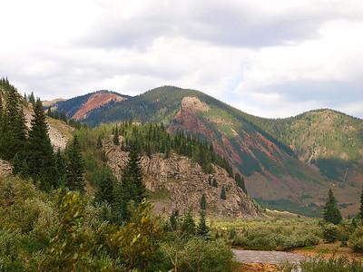 Mountains outside of Silverton, Colorado.