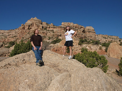 Colorado National Monument.  Jeff & Kari.