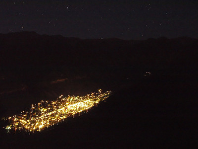 Telluride at night from Mountain Village.  10PM.