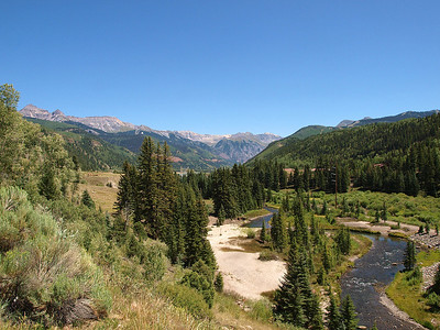 A couple of miles outside of Telluride.