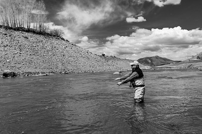 An angler along the Blue River near Green Mountain Reservoir in Colorado on April 26, 2019. Photo by Mitch Tobin/The Water Desk