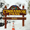 Cinnamon Pass Sign in Snow