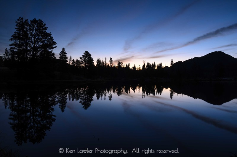 Dawn at Sprague Lake
