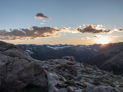Sunset over Rocky Mountain National Park