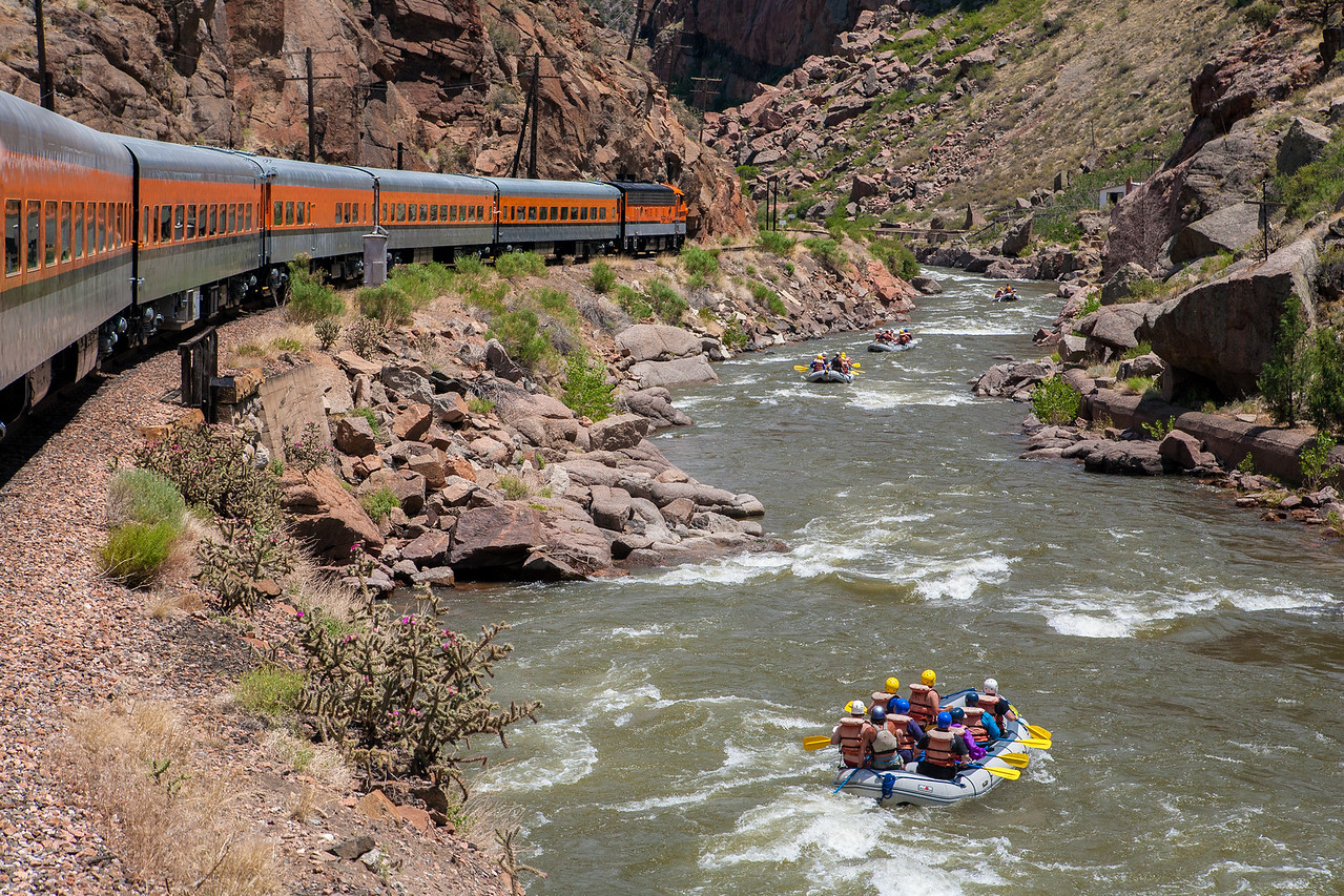 """Rafting in the Royal Gorge"""
