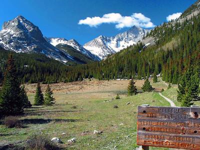 Lily Lake Trailhead in the Sangre De Cristo mountain range