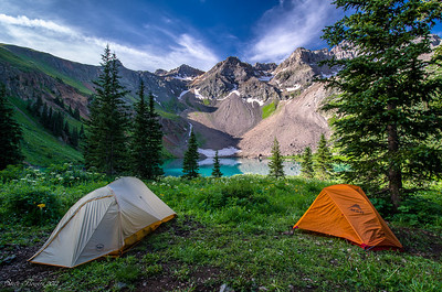 Backcountry Camping Blue Lakes Basin Mt. Snefflels Wilderness Ridgway Colorado